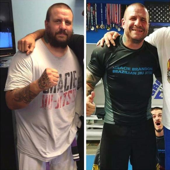 Before and after jiu jitsu weight loss