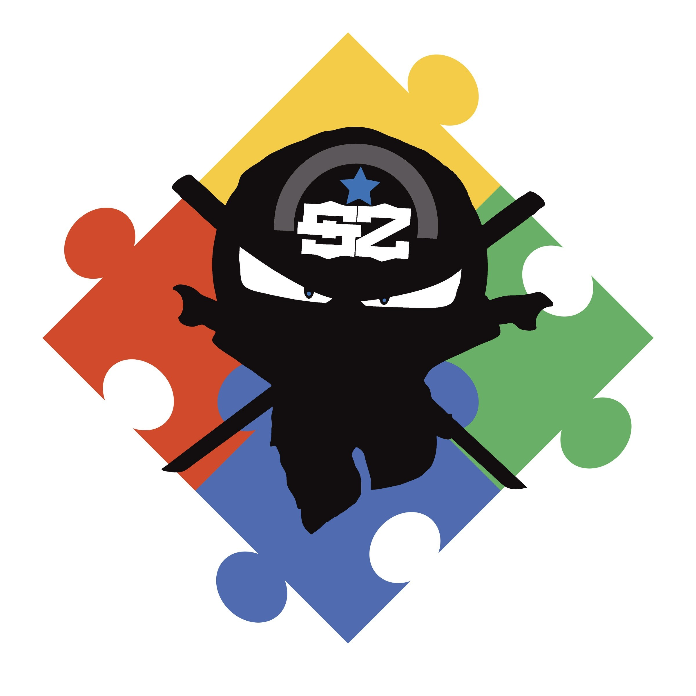 The Spectrum Skillz Ninja represents the ability of martial artists who are on the autism spectrum to achieve success