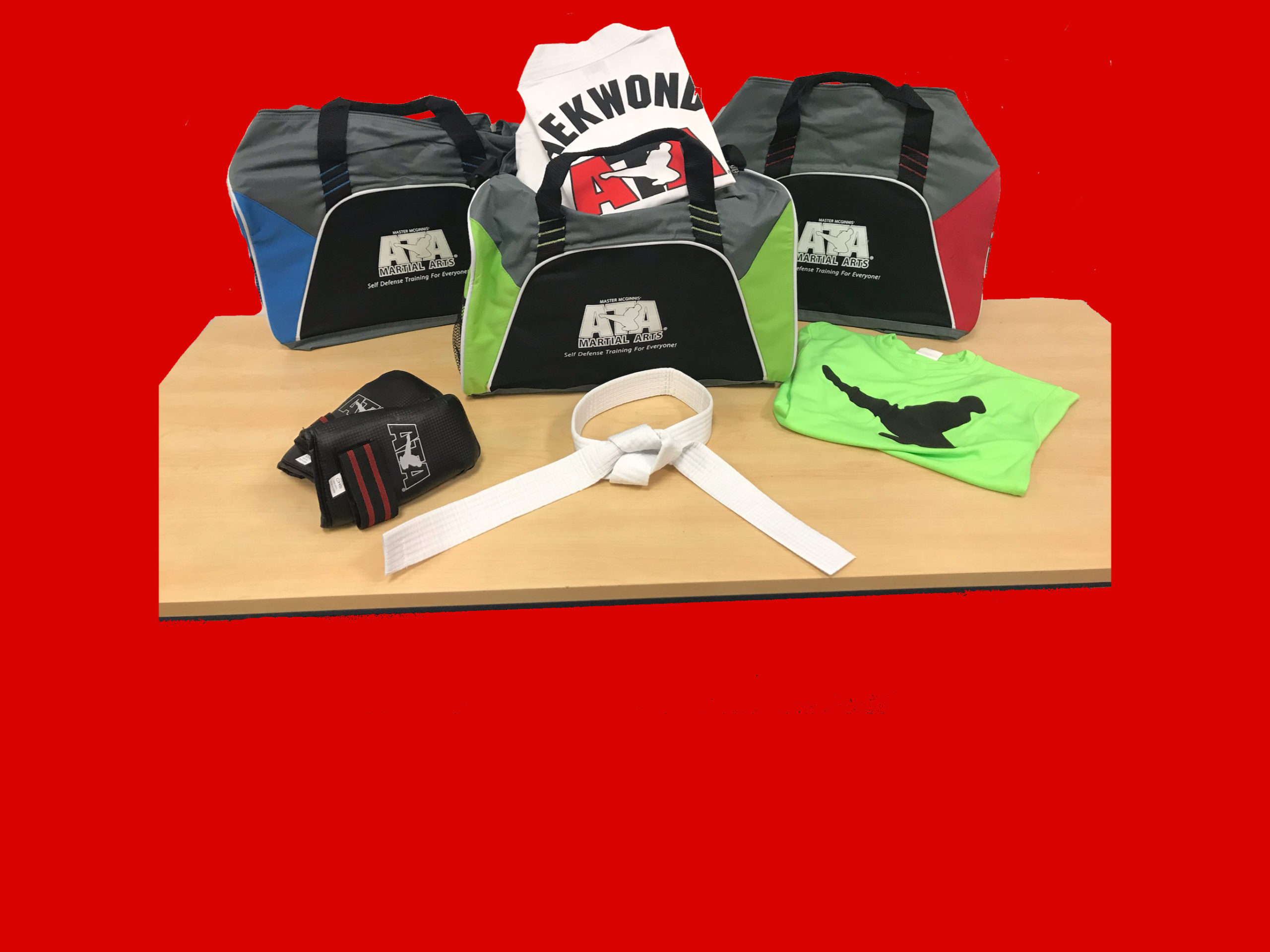 Uniform, Gloves, T-Shirt, & Gym Bag